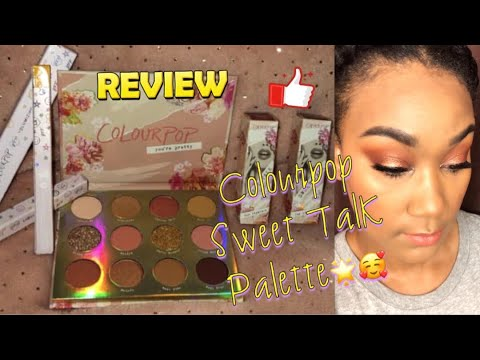 Review And First Impression On The Colourpop Sweet Talk Palette
