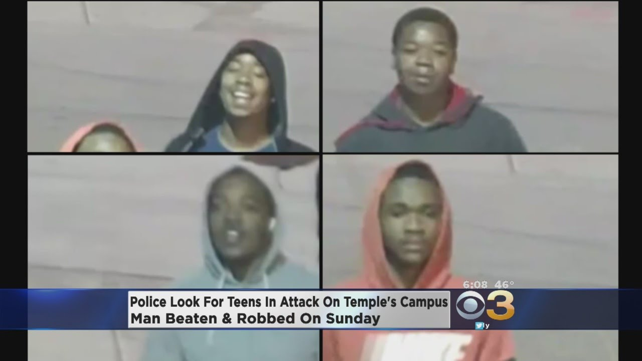 police search for teens in attack on temple s campus police search for teens in attack on temple s campus