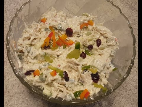 Homestyle Chicken Salad Recipe |Make a Basic Chicken Salad | Salad Recipe |