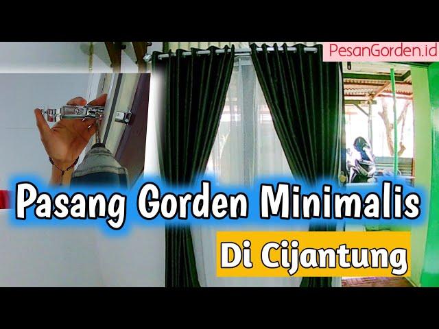 Pemasangan Gorden Jendela dan Pintu di Cijantung, Jakarta Timur | PesanGorden.id