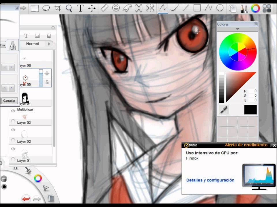 Dibujando anime en tablet youtube for Programas de dibujo de cocinas gratis