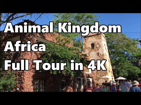 Disney's Animal Kingdom | Africa and Harambe Village | Full Tour in 4K | 2017