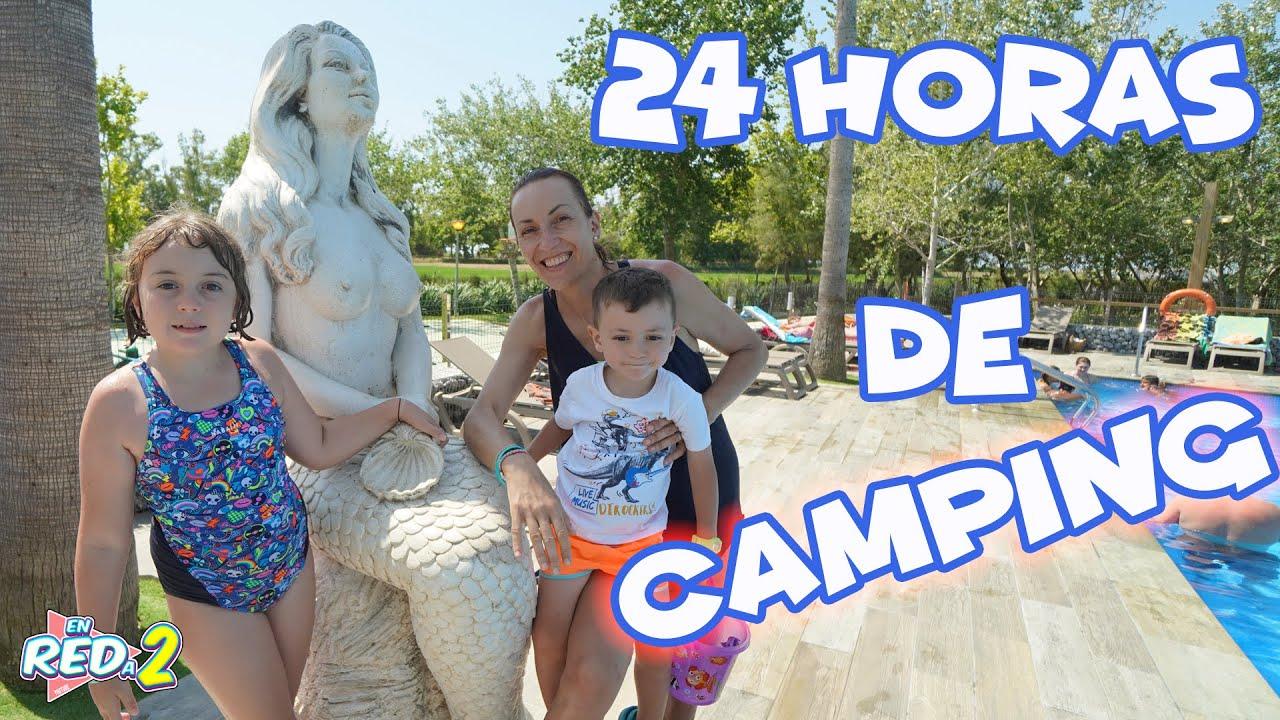 24 Horas en el CAMPING!! PROBLEMAS con la tienda Enreda2