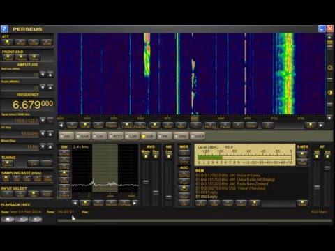 VOLMET (Honolulu) Aviation Forecast 6.679 MHz Shortwave - Perseus SDR + Wellbrook
