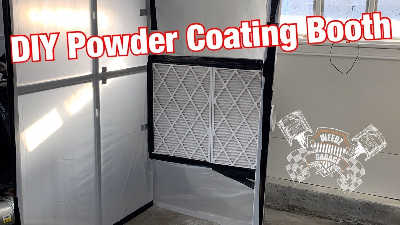 using a grow light to build a diy powder coating booth