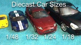 Die Cast Car Sizes 1/18 1/24 1/32 1/48