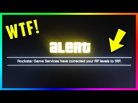 GTA Online Players Are Getting Their Rank Reset Back To Level 1 By Rockstar Games! (GTA 5 RP)