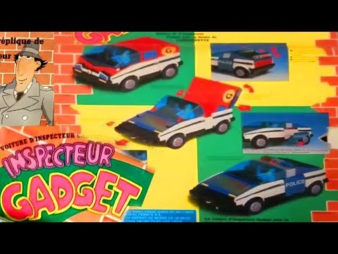 INSPECTOR GADGET Gadgetmobile Mobile Car 1988 BANDAI POPY Inspecteur GALOOB transforming