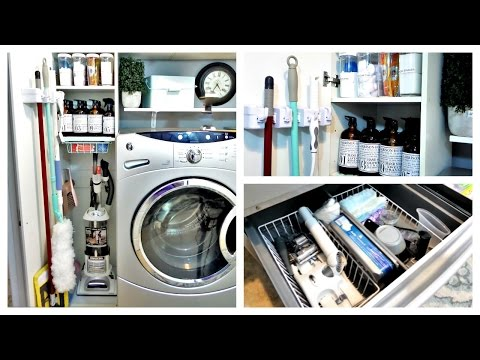 Organization  Laundry Room Utility/closet Update And