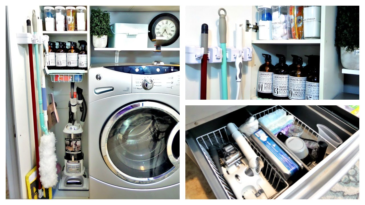Organization Laundry Room Utility Closet Update And Exciting News Youtube
