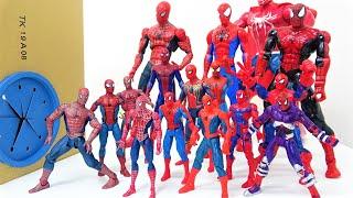 スパイダーマンがすぽすぽ箱にはいっていく! ヴェノム、グリーンゴブリン登場〜! スパイダーマンのおもちゃコレクション