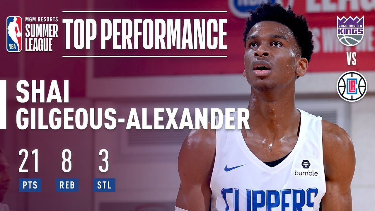 d283c4785bf Shai Gilgeous-Alexander Drops 21 In The LA Clippers Win In The 2018 MGM  Resorts Summer League