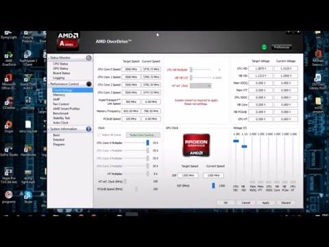 Amd Overdrive : Overclock tutorial