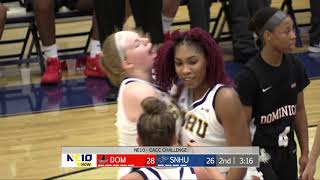 Highlights: @SNHUWBB Moves to 2-0 with 77-62 Win Over Dominican thumbnail