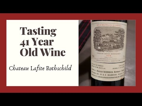 Wine Tasting | 1978 Bordeaux | Chateau Lafite Rothschild | Taste 41 Year Old Wine From France