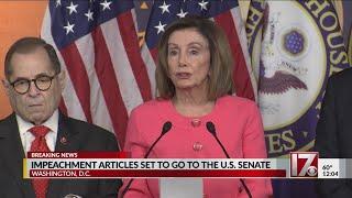 Impeachment articles set to go to the U.S. Senate
