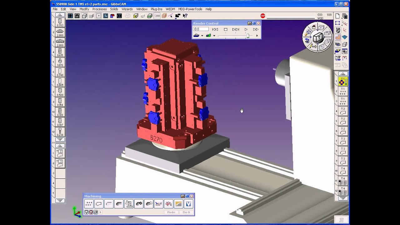 GibbsCAM Tombstone Machining Part (TMS) - Midwest CAM