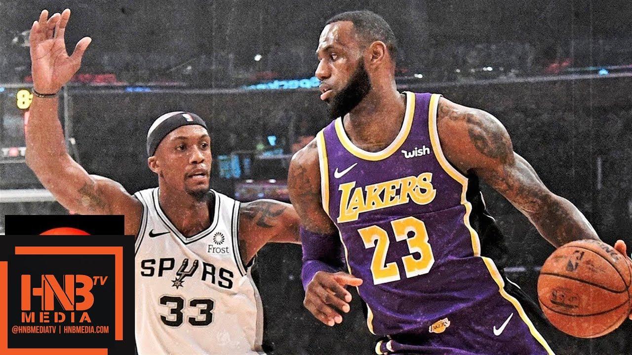 Los Angeles Lakers vs San Antonio Spurs Full Game Highlights  3b415b835