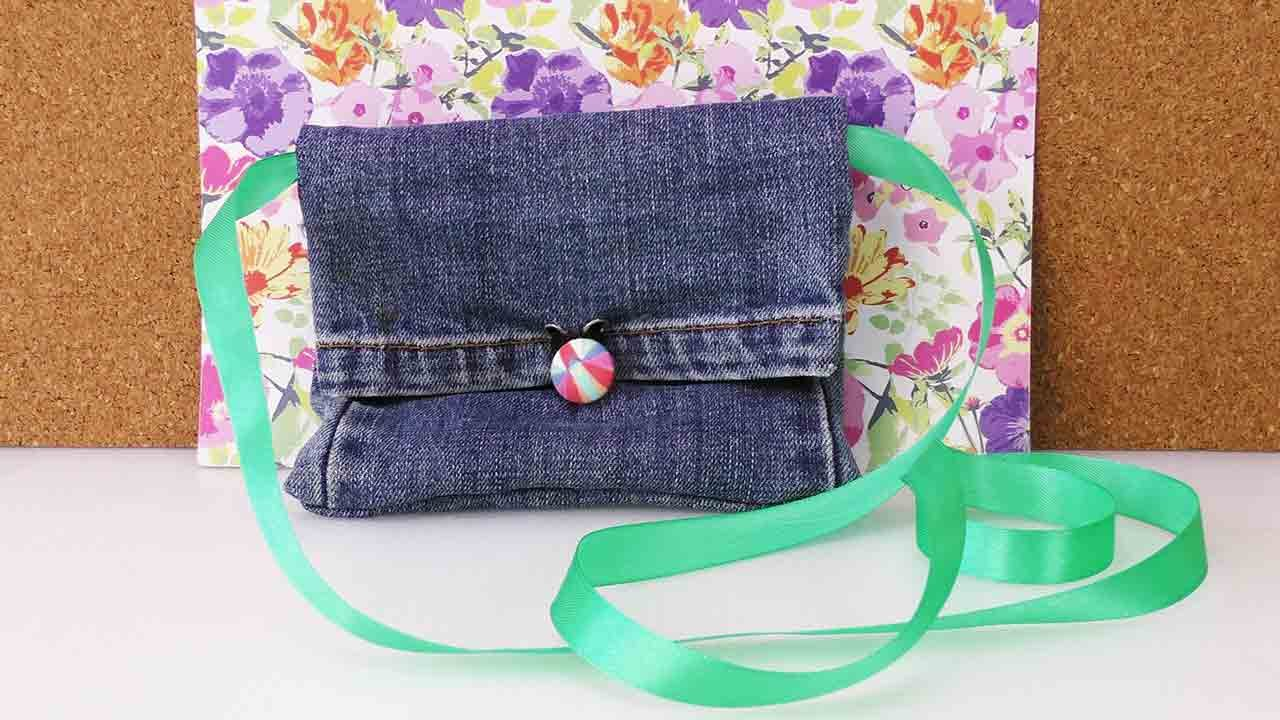 Tasche Recycling Diy Recycling Jeans Bag Tasche Portemonnaie Aus Alter Jeanshose Selber Machen Fashion