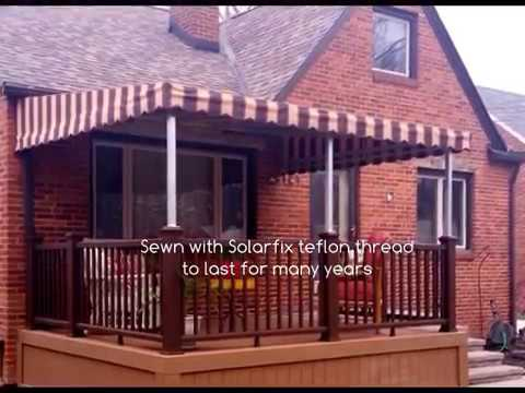 Patio Awnings-Wall- Mounted Examples