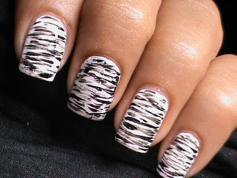black white nails cute nail