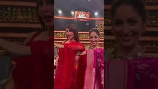 madhuridixit yamigautam & jacquelinefernandez dance on a Marathi song shorts reels dance
