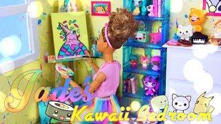 DIY - How to Make: Jade's Bedroom | Custom Paint Splatter | Kawaii Style | Doll Paintings &