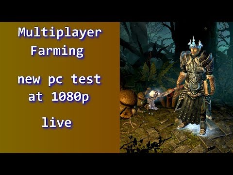 Grim Dawn - Multiplayer farming with a new pc set up!