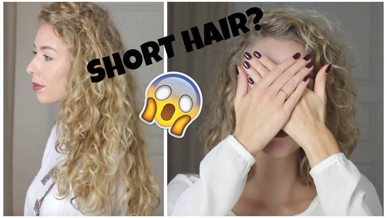 I CUT My Hair Short?? | Long Hair VS. Short Haircut | Before And ...