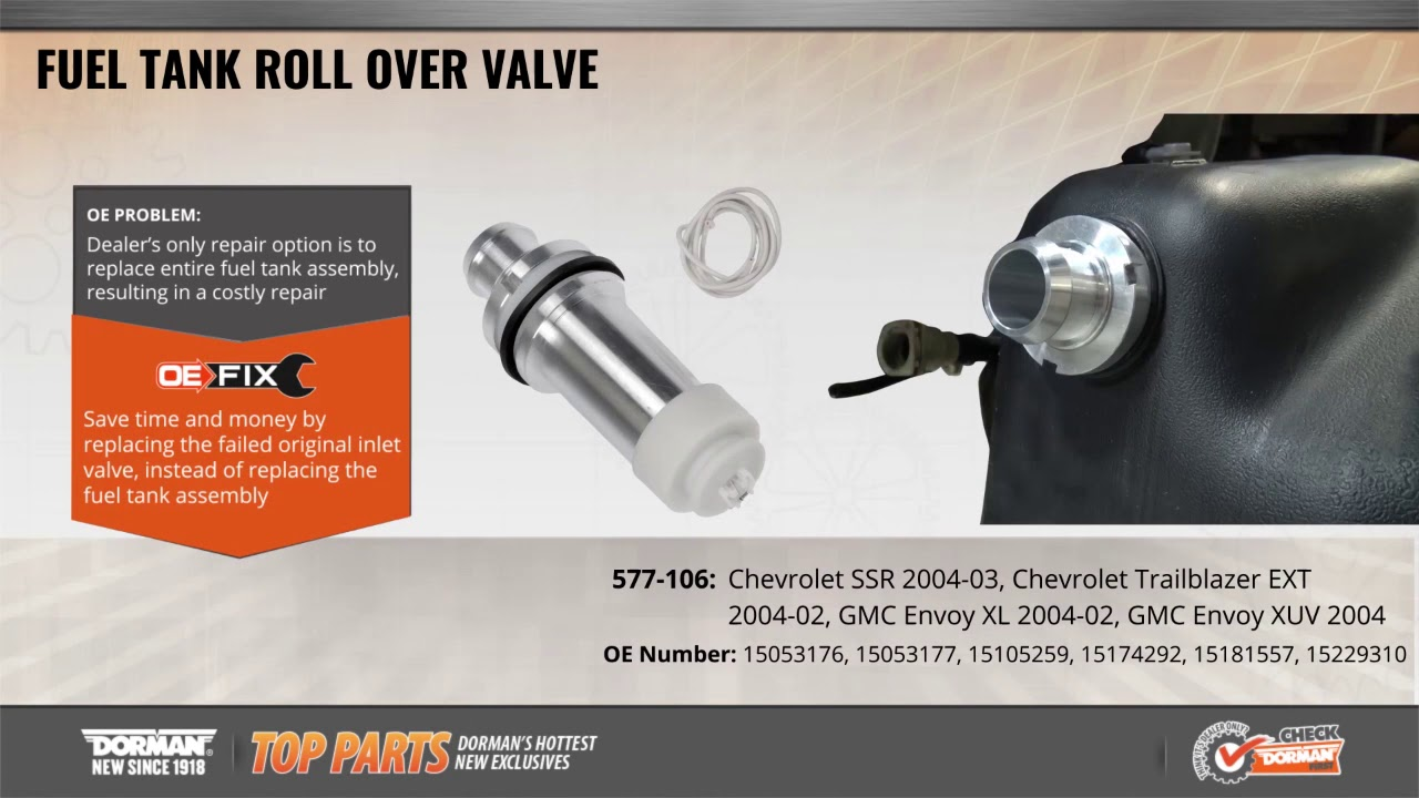 2002 2004 gm suv ssr fuel filler neck inlet check valve dorman products 577 106 [ 1280 x 720 Pixel ]