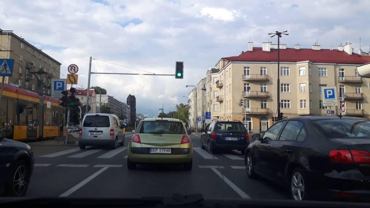 Driving to Warsaw downtown 2 / Поездка в центре Варшавы 2
