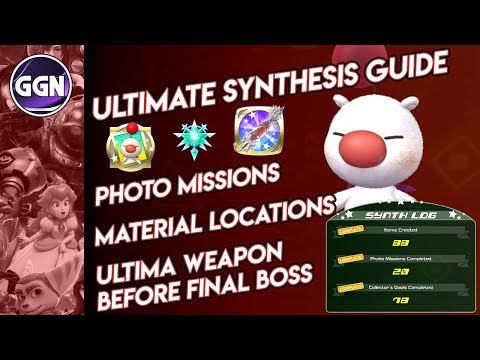 Kingdom Hearts 3 | Ultimate Synthesis Guide (Photo Missions, Materials & Ultima Weapon)
