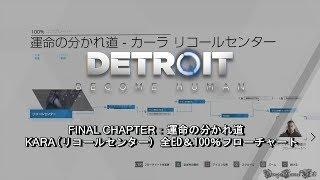 【PS4 PRO】DETROIT BECOME HUMAN - 運命の分かれ道・カーラ/リコールセンター 全ED&100%フローチャート