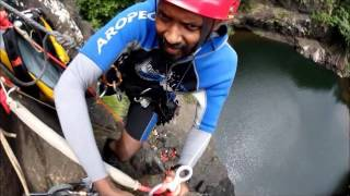 canyoning tamarin falls with vertical world adventures