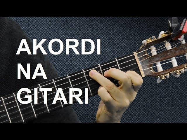 AKORDI NA GITARI - Osnovni akordi za početnike