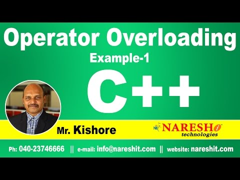Operator Overloading in C++ Example 1 | C++ Tutorial | Mr. Kishore