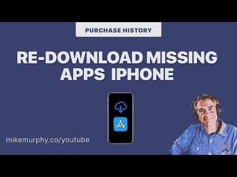 iOS Tip: Re-Download Missing Apps (Purchase History)