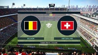 BELGIUM vs SWITZERLAND - Full Match & Amazing Goals - PES 2019 Gameplay PC