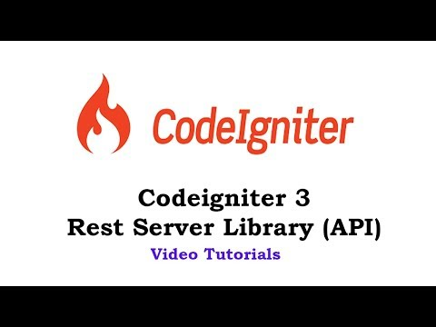 #2 Codeigniter 3 - Rest Server Library (API) - Get Users with Database