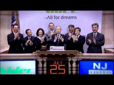 25 July 2011 Nidec Corporation rings the NYSE Closing Bell