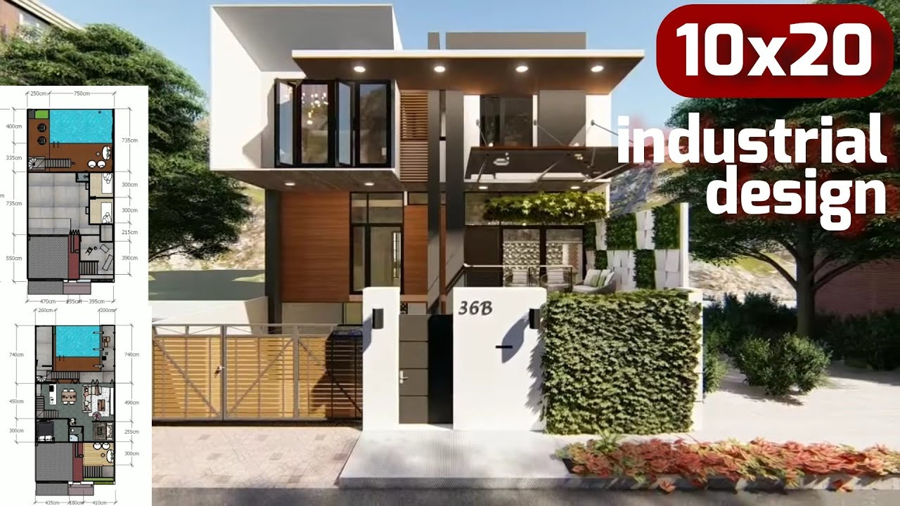 House With Industrial Interior Design Rumah Dengan Desain Interior Industrial Small House Design Youtube