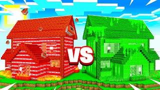 TNT MINECRAFT HOUSE vs SLIME MINECRAFT HOUSE!