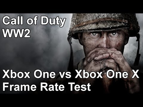 Call of Duty WW2 Xbox One vs Xbox One X Frame Rate Test