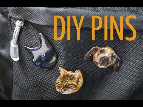 DIY PINS (taking my obsession with cats too far)