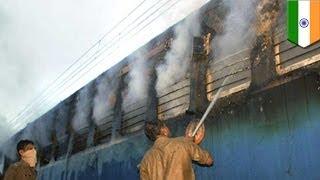 Fire on Indian train kills at least 23