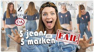 ich teste LIVE 5 Mom Jeans Hosen von 5 Marken in Größe 42