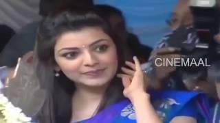 Kajal Agarwal Hot Saree Slip in Opening Ceremony