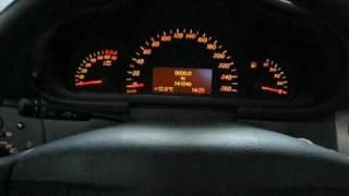 mercedes w203 02 service mode computer esp off