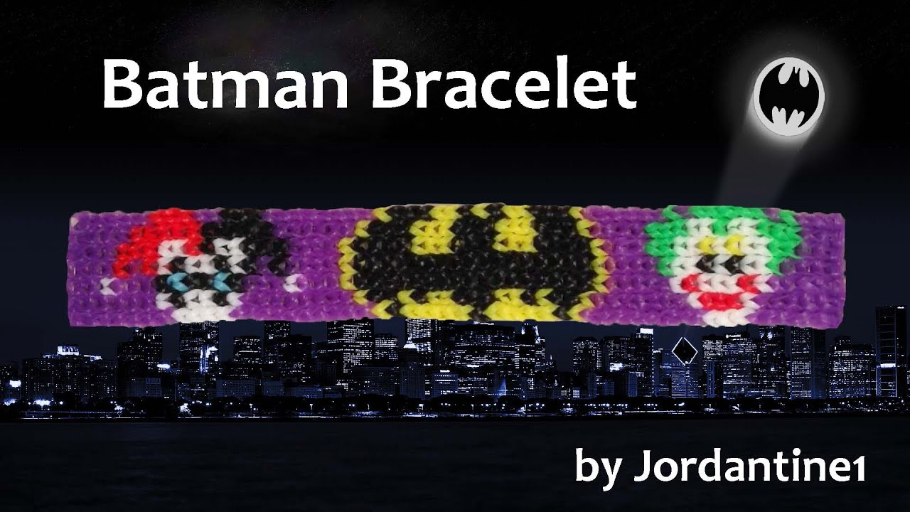 New Batman Bracelet Alpha Rainbow Loom Harley Quinn Bat