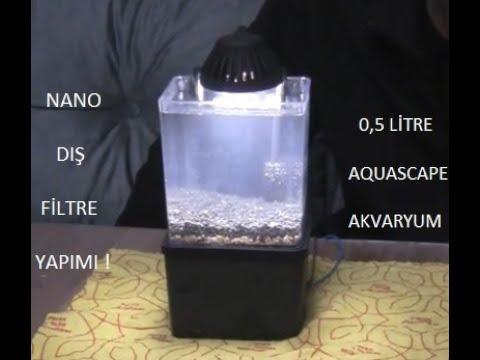 #DIY NANO AQUASCAPE 0,5Litre (PART-3) - FİLTRASYON ! - YouTube